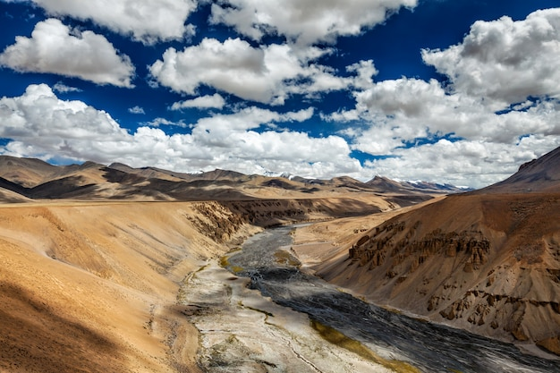 Himalaya landschap, ladakh, india