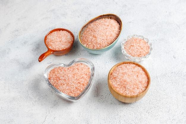 Himalaya roze zout, bovenaanzicht