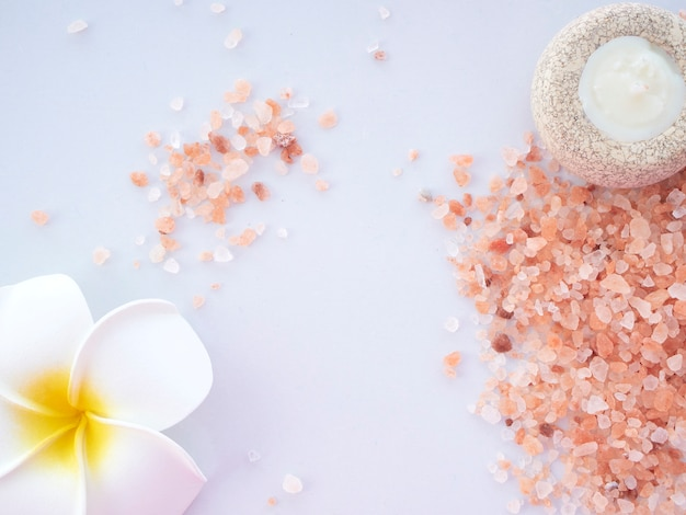 Himalaya roze zout met geurkaarsen