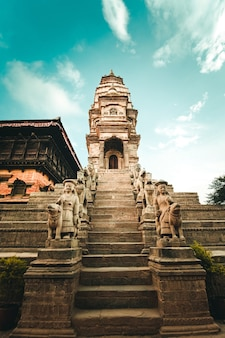 Hindoeïstische tempel op bhaktapur durbar square, nepal