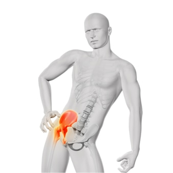 Hip pijn figuur in drie dimensios