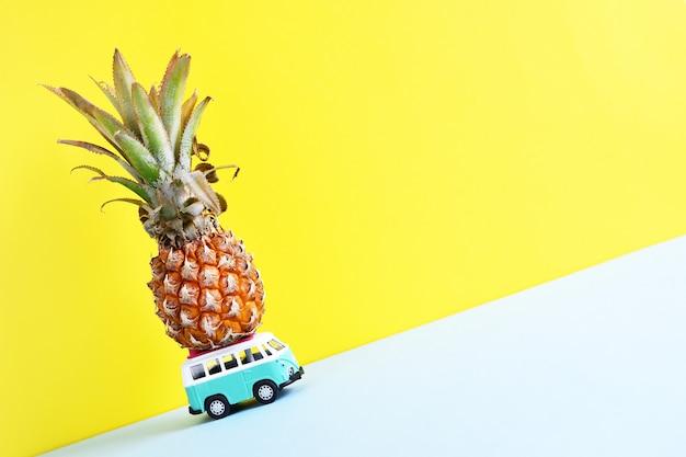 Hippiebusje met ananas op het dak