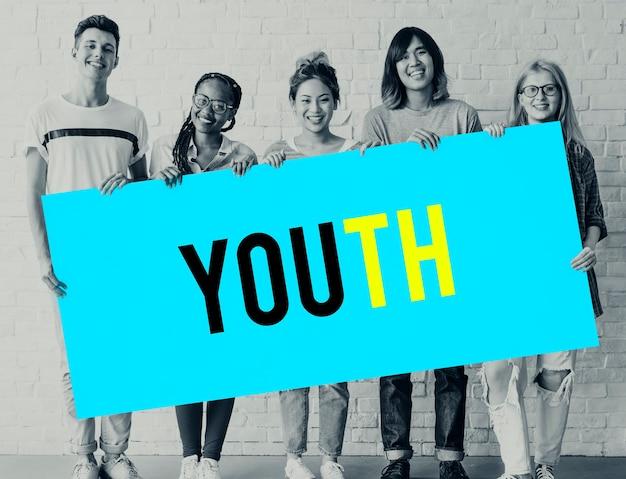 Hipster vrijheid jeugd tiener grafisch woord