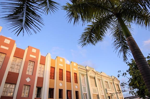 Historisch centrum van joao pessoa, staat paraãba, brazilië, op 15 juni 2008.