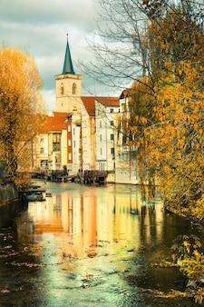 Historisch deel van erfurt, thuringia, duitsland