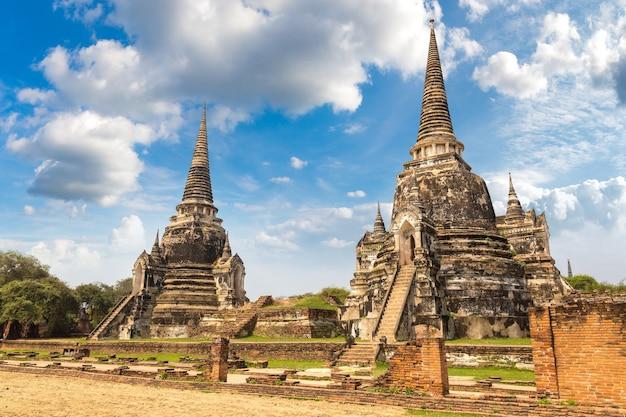 Historisch park ayutthaya in ayutthaya in thailand