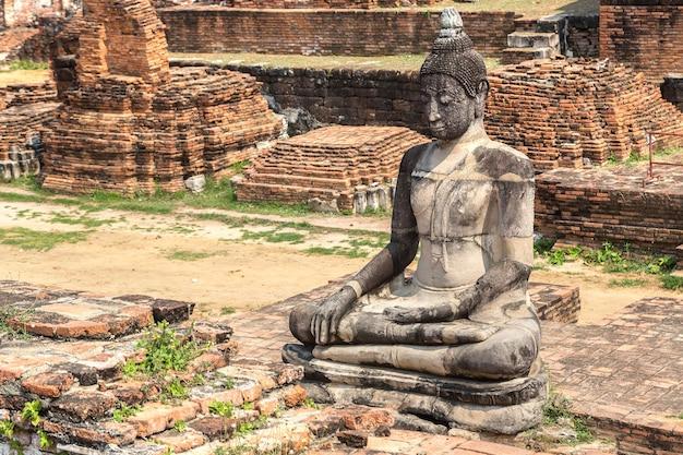 Historisch park van ayutthaya in ayutthaya, thailand