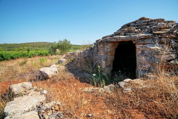 Historische plaats op de vlakte van stari grad, hvar, kroatië.