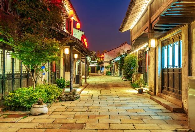 Historische schilderachtige oude stad wuzhen, china