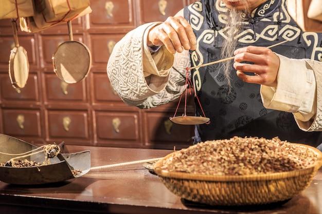 Historische vreedzame reflectie chinese traditionele