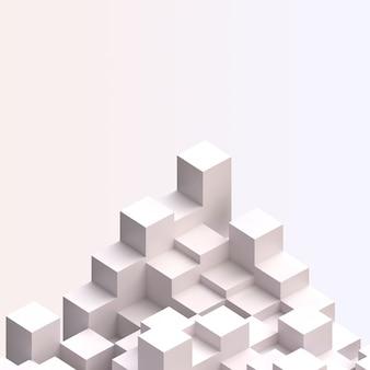 Hoek van kubussen split level compositie