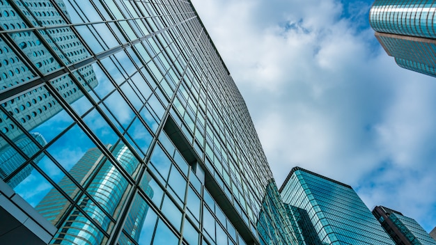 Hoekmening van de commerciële bouw in hong kong