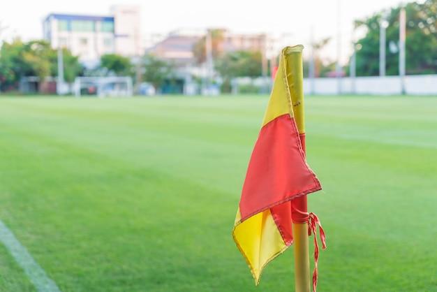 Hoekvlag op een voetbalveld