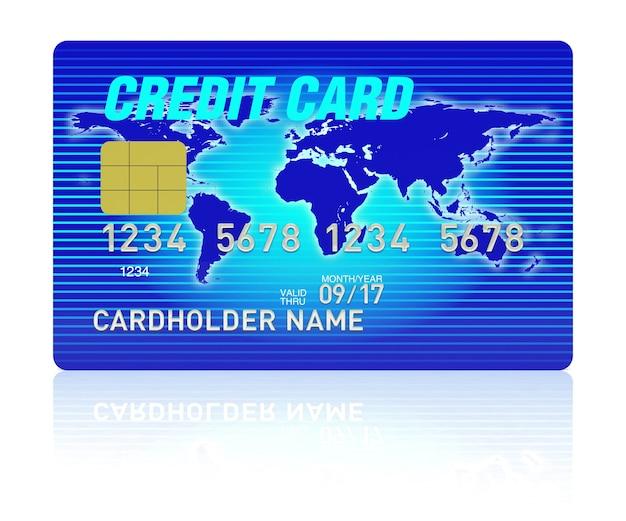 Hoge detailillustratie van veelkleurige creditcard