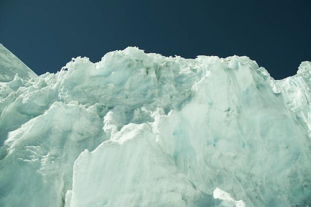 Hoge gletsjer in de berg cordilleras
