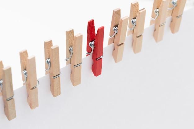 Hoge hoek houten haken