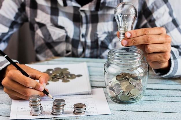 Hoge hoek man berekening besparingen