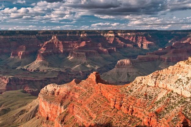 Hoge hoekmening van een canyon