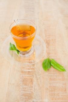 Hoge hoekmening van groene thee