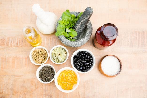 Hoge hoekmening van kruiden en medicijnen