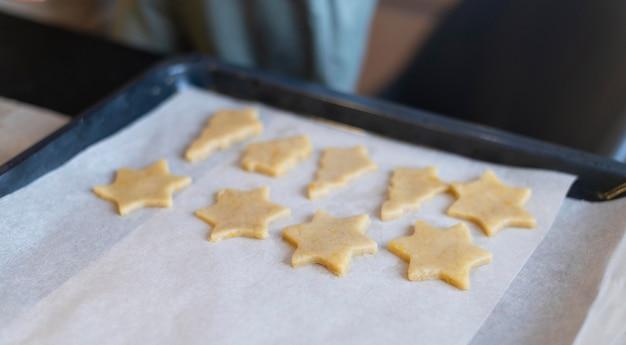 Hoge hoekvormige koekjesregeling
