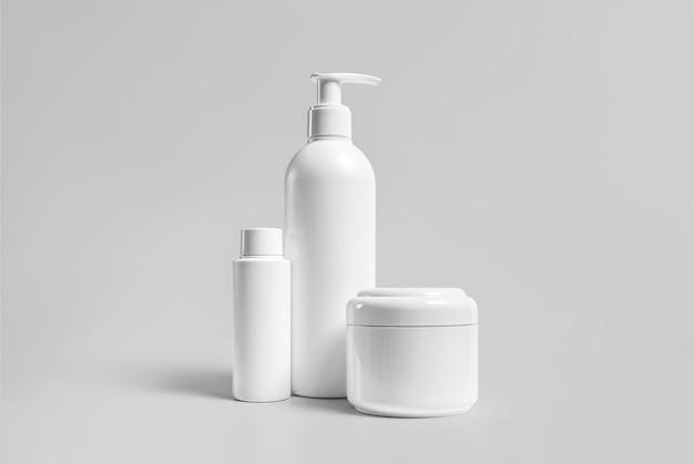Hoge resolutie cosmetische fles pakket 3d-rendering geïsoleerd geschikt voor uw ontwerpelement