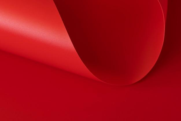 Hoge weergave elegante rode papier kopie ruimte oppervlak