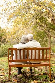 Hoger paar in het park