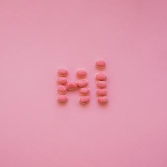 Hoi zeggen met snoepjes