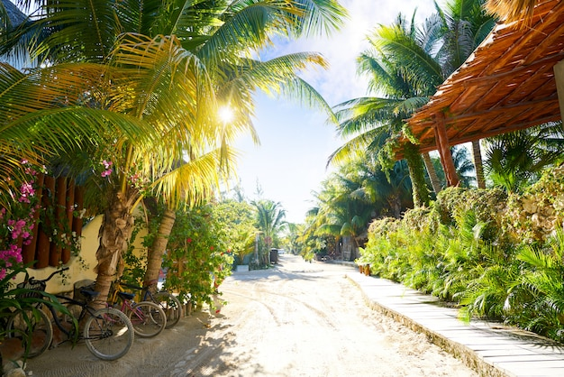 Holbox eiland straat quintana roo mexico