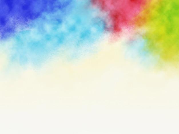 Holi festival achtergrondontwerp van kleurrijke spatten met kopie ruimte
