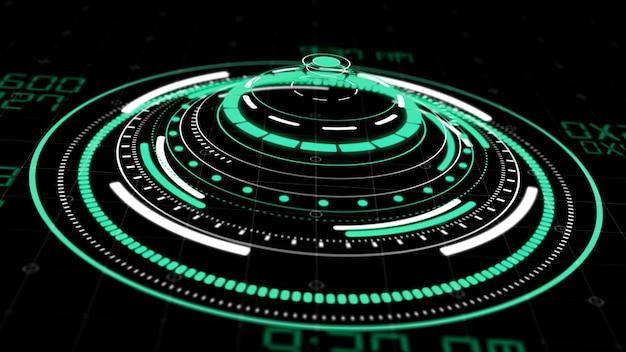Hologram cirkel-interface
