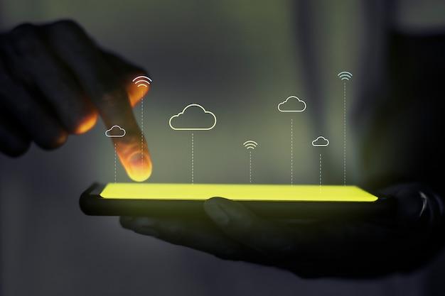 Hologramprojectorscherm met cloudsysteemtechnologie