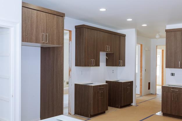 Home improvement kitchen remodel view geïnstalleerd