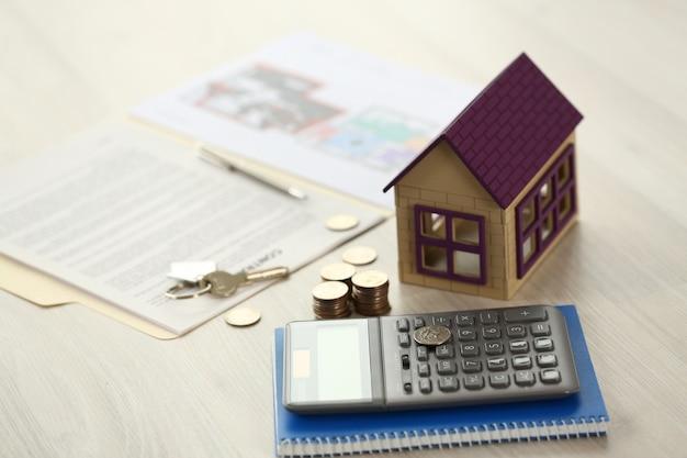 Home key onroerend goed onroerend goed lening verkoop concept