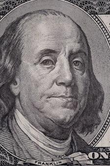 Honderd dollar bankbiljetten achtergrond