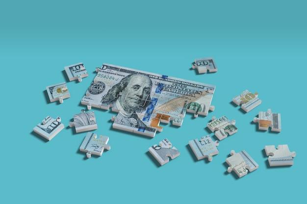 Honderd dollar bill puzzle.