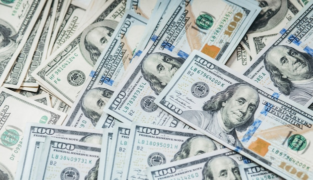 Honderd dollarbiljetten achtergrond