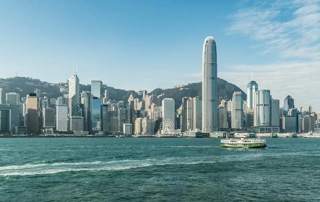 Hong kong-stad en moderne architectuur