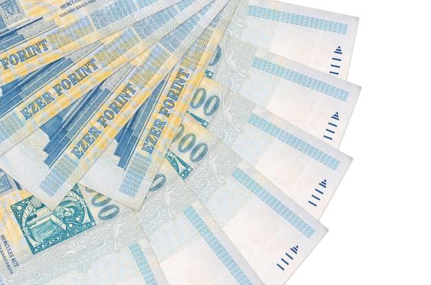 Hongaarse forintrekeningen liggen geïsoleerd op wit
