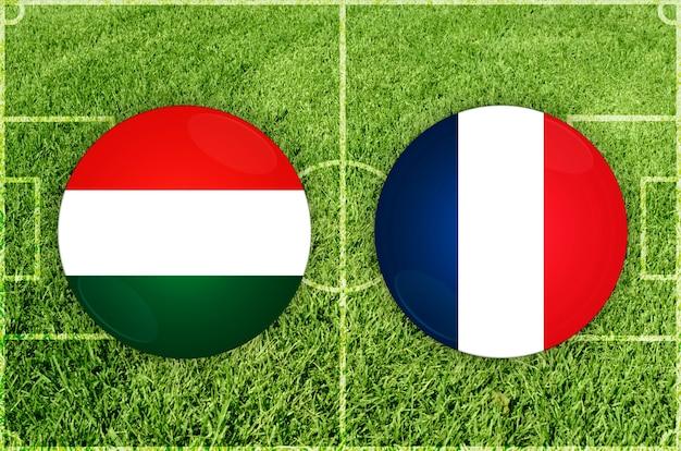 Hongarije vs frankrijk voetbalwedstrijd