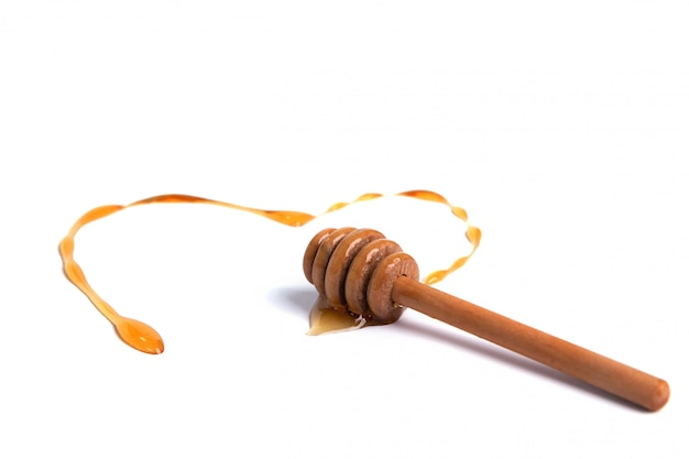 Honing dipper met honing hartvormig