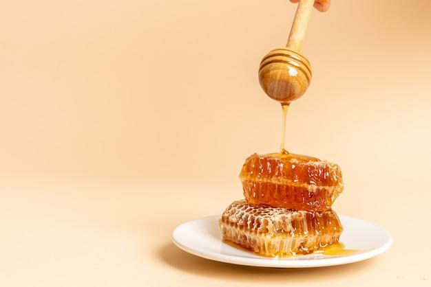 Honing en verse honingraten achtergrond