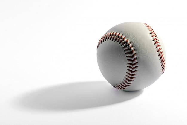Honkbal met lange schaduw