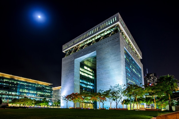 Hoofdgebouw van dubai international financial center