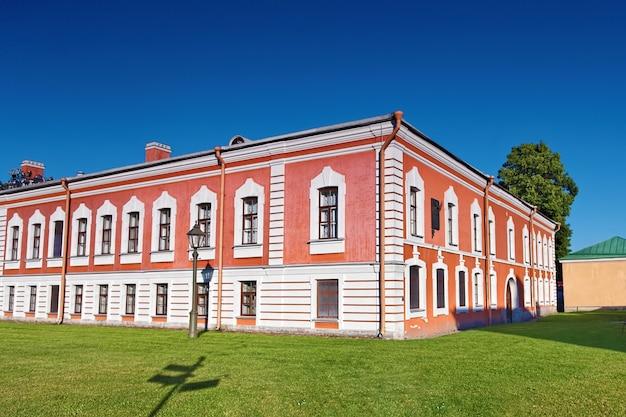 Hoofdingang peter en pavel fortress, sint-petersburg.rusland