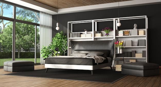 Hoofdslaapkamer in een moderne villa