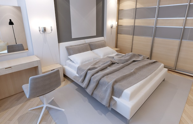 Hoofdslaapkamer in lichte kleurstelling