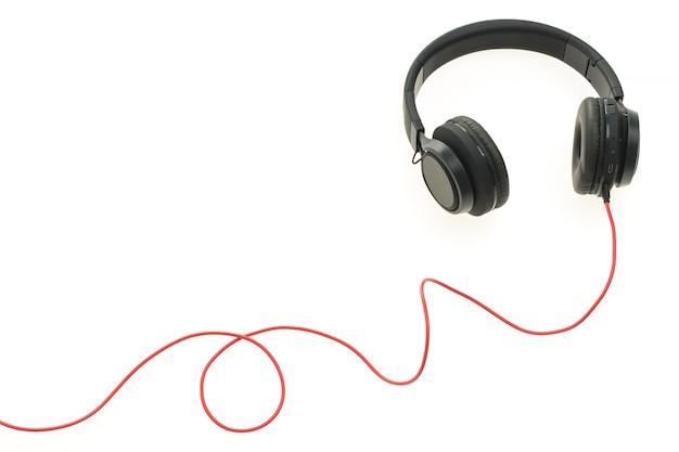 Hoofdtelefoon audio voor het luisteren