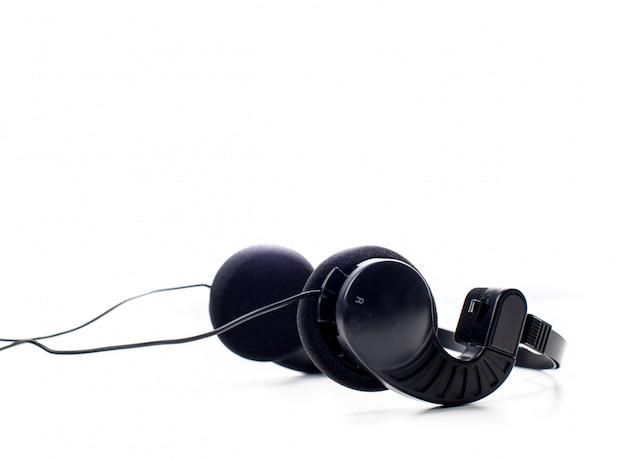 Hoofdtelefoon. geïsoleerd op wit